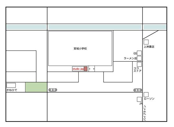 スタジオジャグ周辺地図